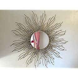 Beautiful Large Mirror for Bathroom,Livingroom Wall Mirror,Kitchen Wall Mirror Decorative in Sunburst Shape (Sunburst) MD104
