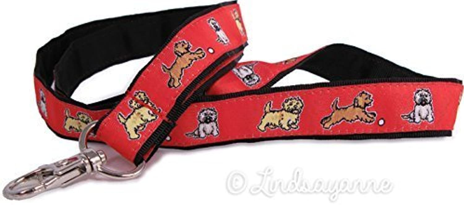 Cairn Terrier Dog Breed Neck Lanyard for ID or Keys  Red by Dog Ink