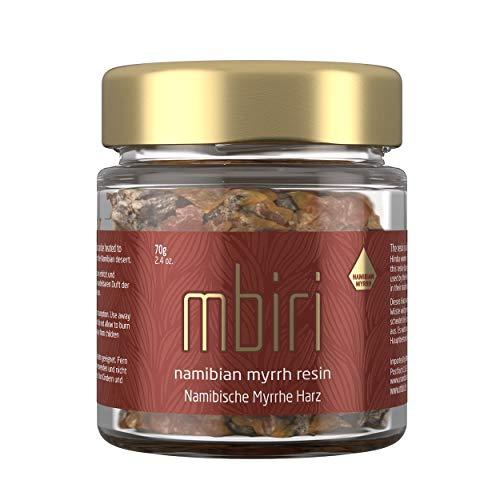 Mbiri Myrrhe Harz (Omumbiri) aus Namibia, Räucherwerk, Räucherharz (Commiphora wildii), Wildsammlung, naturrein -70 g