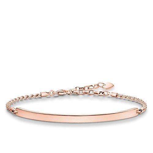 Thomas Sabo Damen-Armband Love Bridge 925 Sterling Silber 750 rosegold vergoldet Länge von 16.5 bis 19.5 cm Brücke 5.4 cm LBA0008-415-12-L21v