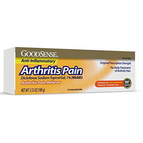 GoodSense Arthritis Pain Relieving Gel, Diclofenac Sodium Topical Gel, 1 Percent, 3.53 Ounces