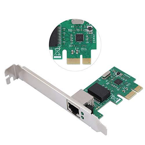 Scheda di Rete LAN per Realtek RTL8111E, Adattatore PCI Express x1 x4 x8 x16 Full Duplex Scheda Gigabit Ethernet Multipla 10 100   1000 mbps, Verde