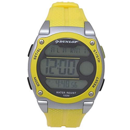 Dunlop Unisex Erwachsene Digital Quarz Uhr mit Gummi Armband DUN182G10