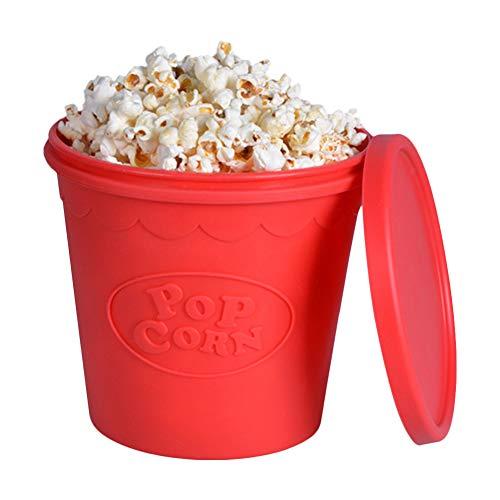 LIPETLI Silicone di Alta qualità per Microonde Popcorn Maker Secchio Snack Bucket Forniture per Feste in Famiglia Utensili da Cucina Contenitore per Popcorn