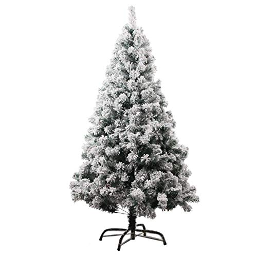 KSWD Snow Flocked Xmas Tree Metal Stand Encrypted Artificial Christmas Tree Snow Effect Easy Install for Holiday Decoration-150cm/5ft