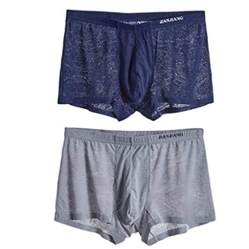 ST kleding mannen ondergoed mannen Boxer Shorts Ice dun jeugd Boxer Nets doorschijnende broek voeten naadloze broek