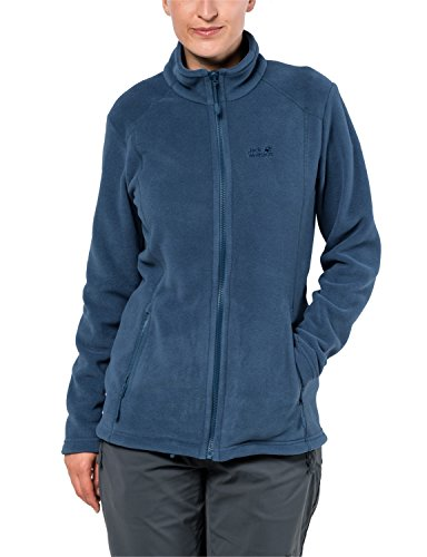 Jack Wolfskin Damen Midnight Moon Klassisch Fleecejacke, Ocean Wave, XS