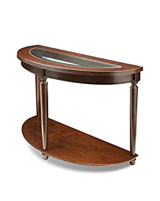 Furniture of America Western Beveled Glass Top Sofa Table, Dark Cherry Finish