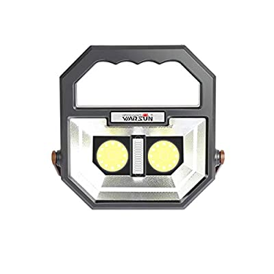 WARSUN Work Light, Rechargeable Led Work Light, Portable Camping Light,Waterproof Flood Lights, Stand Working Lights for Workshop 12W,1000 Lumens,6000K Daylight White