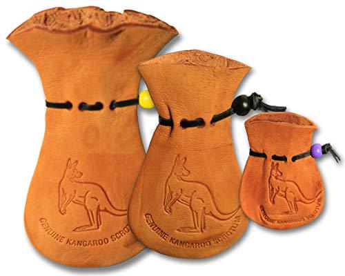 oZtrALa Känguru-Hodensack-Tasche, Jumbo-Geldbörse, echtes Leder, Geschenk, hellbraun (Braun) - NBT-001