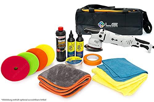 APS - Autopflege-Shop.de Liquid Elements T2500 Exzenter Poliermaschine 8mm Hub - StarterSet mit Profi-Polituren, Polierpads, Versigelung, Abklebeband und Microfasertüchern