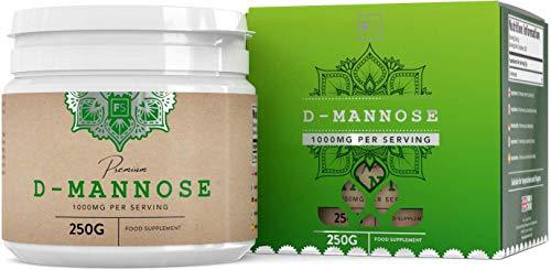 FS D Mannosio Pura Polvere 250g | Integratore Mirtilli Rossi Senza Additivi | D-Mannosio Powder Vegano | Senza Latticini, Glutine e Allergeni | Prodotto in Strutture Certificate ISO