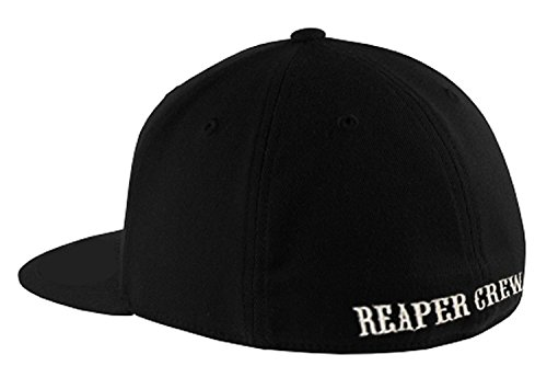 SOA Sons of Anarchy Reaper Crew Fitted Baseball Cap Hat (Small/Medium)