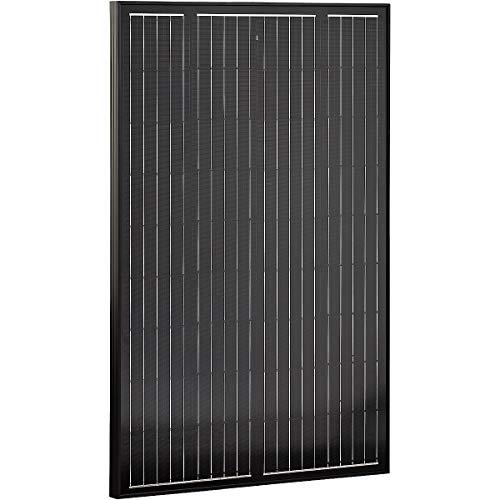 ECTIVE 12V 110W Solarmodul Monokristallin hagelfest Solarpanel Black Edition für Wohnwagen Camping und Garten in 4 Varianten 80-180 Watt