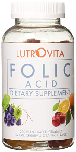 Lutrovita Folic Acid Gummy, Assorted, 200 Count