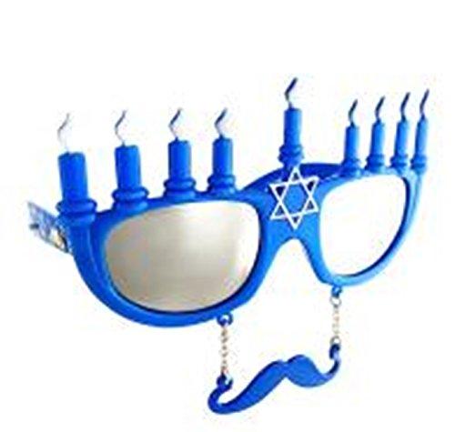 Hanukkah Menorah Sun-Stanches - Novelty Chanukah Sunglasses