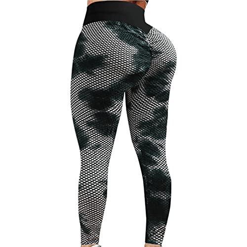 TWIOIOVE Honeycomb Legging d'entraînement pour femme Taille haute Pantalon de yoga Fitness Running Yoga Athletic Pantalon de sport contrôle du ventre Yoga Pantalon d'entraînement