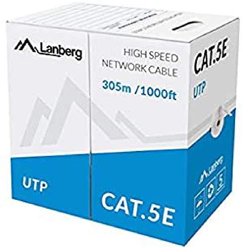 lanberg lcu5–10CC 0305-S Solid Cavo di Rete Cat 5e UTP, 305m Grigio