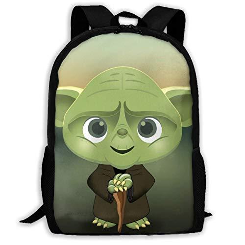 Star War Yo-Da Elementary School Backpack Primary School Book Bag Toddler Backpack School Book Shoulder Bag for Women Men,Size 43X28X16Cm