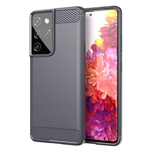 TingYR Funda para Samsung Galaxy S21 Ultra, Resistente a los Arañazos, Fina de Silicona, Funda Interior de TPU Suave, Fundas para Samsung Galaxy S21 Ultra Smartphone.(Gris)