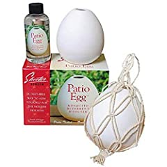 Comes With One Patio Egg One 4 Oz; Bottle Of Scents Of Nature Oil One Measuring Cup And One Plant Fiber Netting Deet-Free/Safe For The Entire Family Effective In Semi-Enclosed Areas Such As Patios, Garages, Workshops, Gardening Sheds, Greenhouses, St...