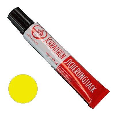 Schraubensicherungslack 20 ml. in Tube gelb - Sicherungslack - Schraubenkleber