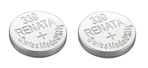 Renata 2 x 339 oder sr614sw Uhrenbatterie, Swiss Made, 1,5 V, Silberoxid