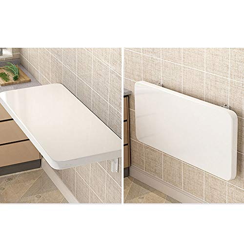 NWHJ Mesa Plegable de Pared Escritorio Blanca Sencilla, Mesa De Cocina, Mesita Plegable Pared Pequeña, 2.5cm Thickned, Sturdy and Durable