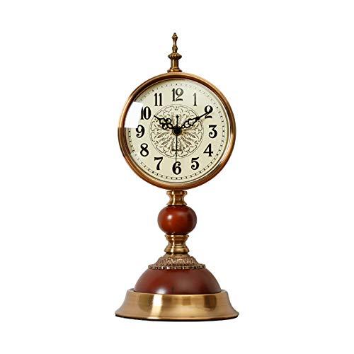 Reloj de mesa Reloj de mesa decorativo de escritorio retro para amigos, reloj de escritorio silencioso con batería, reloj Manta de metal como regalo 15.3 pulgadas Reloj de decoración de interiors