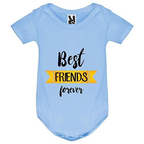 My-Kase Body bébé - Best Friends Amis - Bébé Garçon - Bleu - 12MOIS