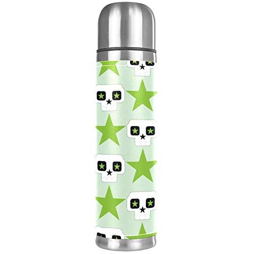 Thermos ThermoCafé Botella térmica aislada,Ventilador Colorido,Frasco de Vacío de Acero Inoxidable 500 ml