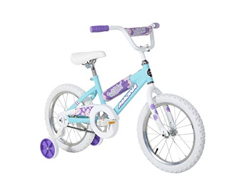 Dynacraft Magna Willow 16' Bike with Removable Training Wheels, Willow Blue