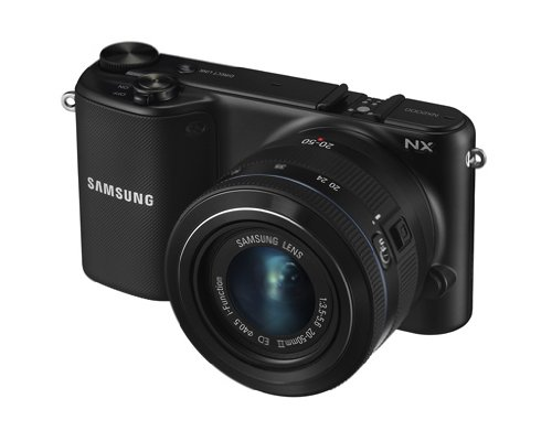 Samsung NX2020 Systemkamera Set (20,3 Megapixel, 9,4 cm (3,7 Zoll) LCD-Display, HDMI, WiFi, USB 2.0 inkl. 20-50 mm i-Function Objektiv, Zweitakku, Samsung 16GB microSD Karte, Adobe PS Lightroom) weiß