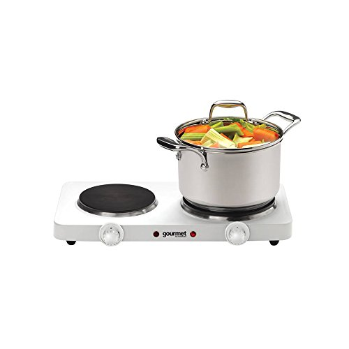 Sensio Home Portable Electric Double Hot Plate Hob Cooktop – Upgraded Table Top Hotplate with 2 Hot Plates (1000W & 1500W) – Stainless Steel Lightweight Compact Camping Cooker, Food Warmer and Boiler