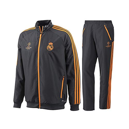 2013-14 Real Madrid Adidas EU Presentation Tracksuit (Black)