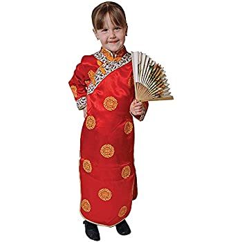 Dress Up America Conjunto de Disfraces de niña China: Amazon.es ...