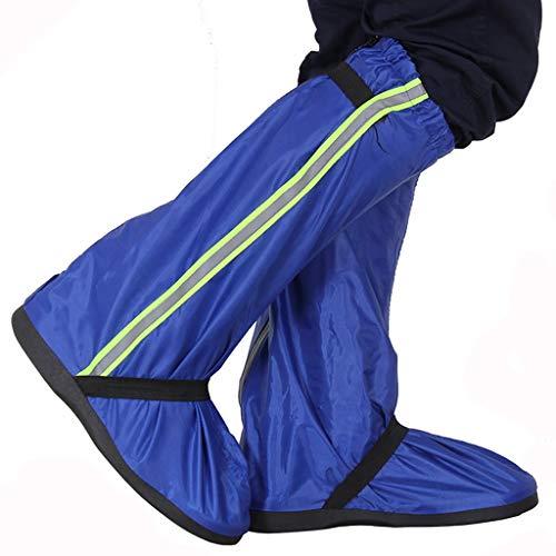 I will take action now Erwachsene Oxford Tuch Regenschuhe Set Herren Damen Reitstiefel Wüste Sand Kontrolle Schnee Abdeckung Fußverdickung rutschfest, PVC, blau, 31.5cm