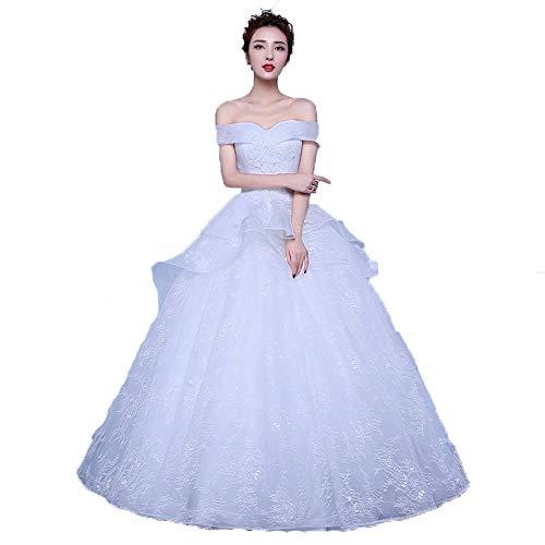 Vestido de novia Mujeres fuera del hombro vestido de bola del cordón del Applique Vestidos de boda nupciales Vestido delgado de la novia de Croset Vestido de Quinceanera Vestidos de noche para mujer