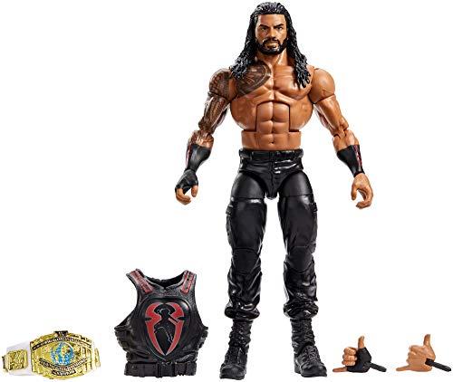 Mattel GCL25 - WWE Elite Actionfigur (15 cm) Roman Reigns, Spielzeug ab 8 Jahren