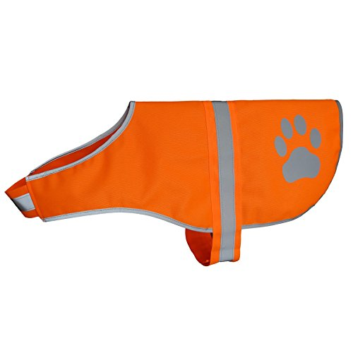 Hiado Dog Reflective Safety Vest High Visibility for Walking Running Hiking to Keep Dogs Visible Safe from Cars and Hunting Accidents Orange XXL