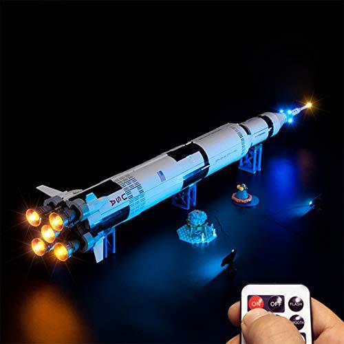 Dittzz Kit de Lumière à LED Jeu de Lumières Télécommande Éclairage pour Lego 21309 - NASA Apollo Saturn V (Les modèles Lego ne sont Pas Inclus)