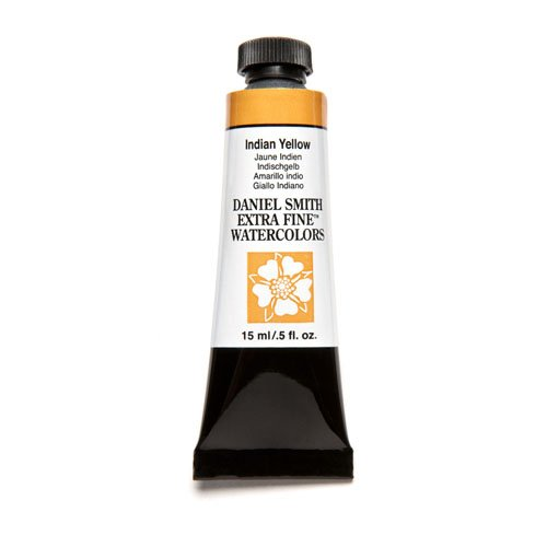 DANIEL SMITH Extra Fine Watercolor 15ml Paint Tube, Indian Yellow (284600045)