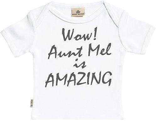Personalizados bebé Wow Custom Is Amazing Camisetas Personalizados para bebé niño - Camisetas Personalizados para bebé niña - Conjunto Regalo del bebé - Blanco - 0-6 Meses