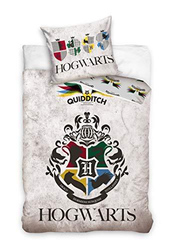 Harry Potter Funda nórdica con funda de almohada de 160 x 200 cm y 70 x 80 cm, algodón. 6