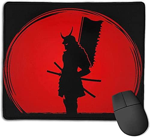 Alfombrilla de ratón para Juegos, Samurai de pie, diseñada sobre la luz del Sol, gráfico de Fondo, Base de Goma Antideslizante, Alfombrilla de ratón para Ordenadores portátiles, Alfombrillas de ratón