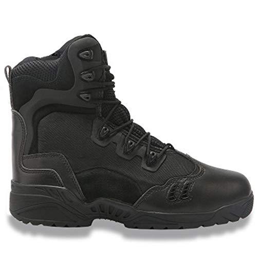 QHGao Lichtgewicht Mid-Mountain wandellaarzen, heren en vrouwen High-Top woestijn laarzen voor herfst en winter, Fast Response Tactical Boots, gevoerde militaire enkellaarzen