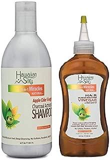 Hawaiian Silky 14-In-1 Miracles Apple Cider Vinegar Shampoo and Vinegar Combo