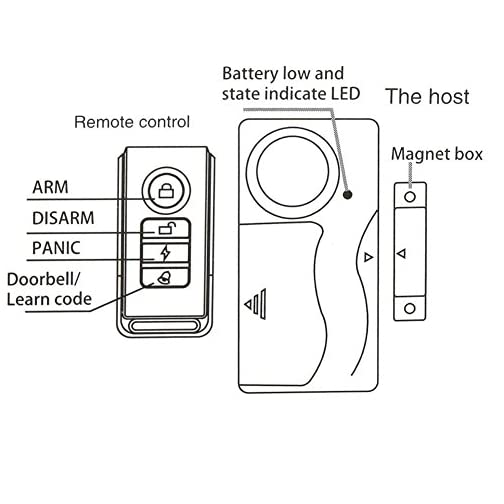 HENDUN Wireless Door Alarm with Remote, Windows Open Alarms,Home Security Sensor, Pool Alarm for Kids Safety, Prevent… 5