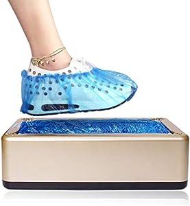 LXLTL Dispensador De Cubierta De Zapatos Automático, Cubrezapatos Desechables Patucos para El Taller Hospital Zapatos Cover Dispensador,Oro,300ShoeCovers