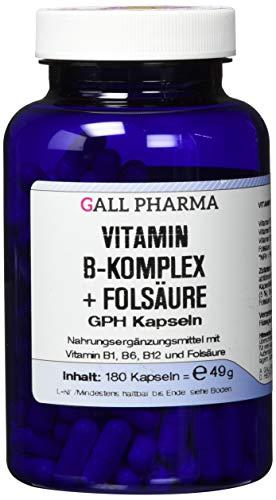 Gall Pharma Vitamin B-Komplex + Folsäure GPH Kapseln, 180 Kapseln